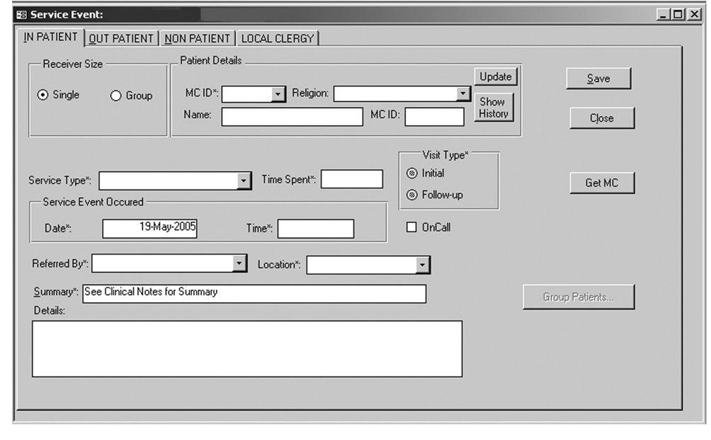 screenshot of care program