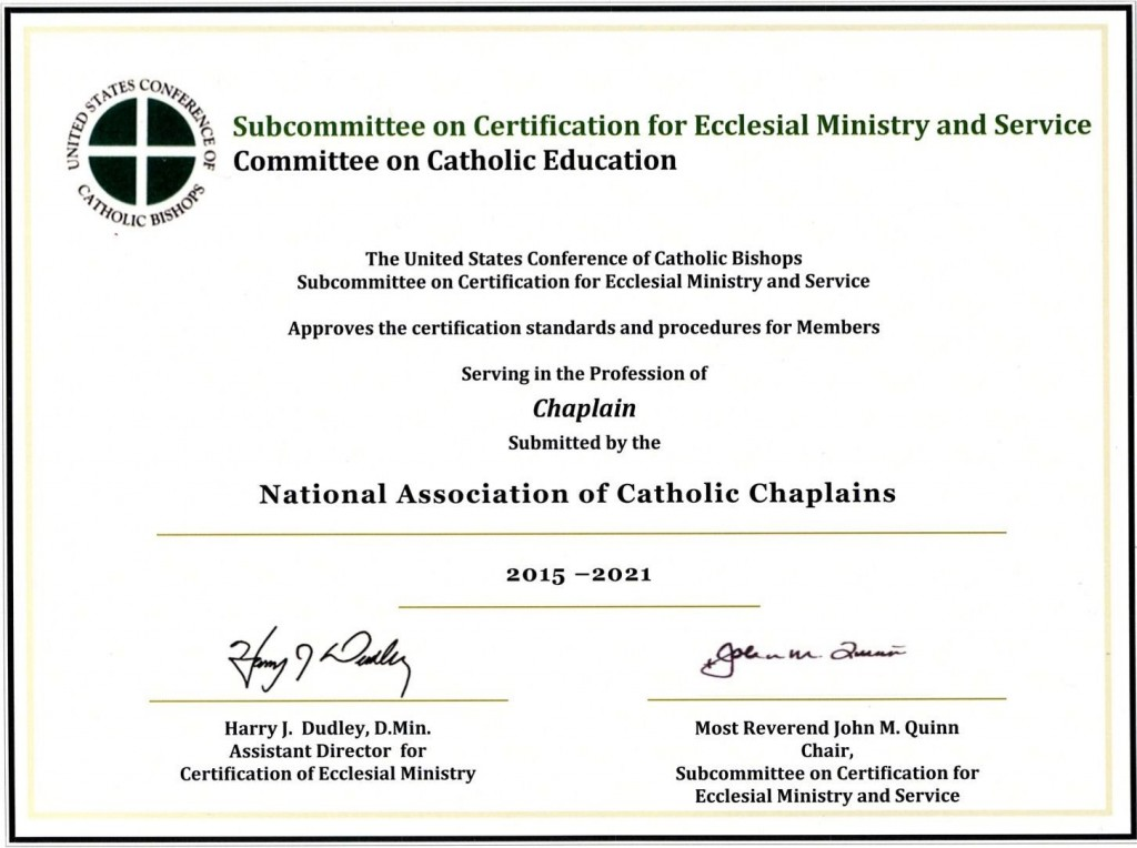how to become a certified chaplain