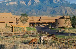 Hyatt-Regency-Tamaya-Resort-and-Spa-Exterior-with-Horses